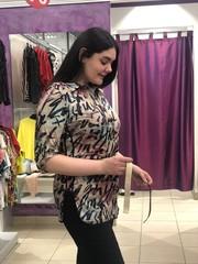 Туника Laura Canorra 2126 рубашка надписи 3/4 (В20)