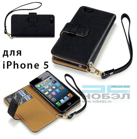 Чехол для iPhone terrapin для iPhone SE / 5S Terrapin кожа Wallet Case - черный/коричневый