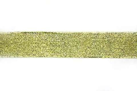 Лента металлизированная. БОБИНАМИ  Золото. (выбрать размер)