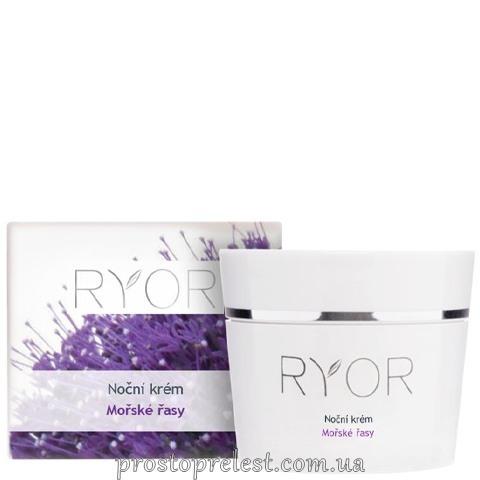 Ryor Night Cream With Marine Algae - Ночной регенерирующий крем с морскими водорослями