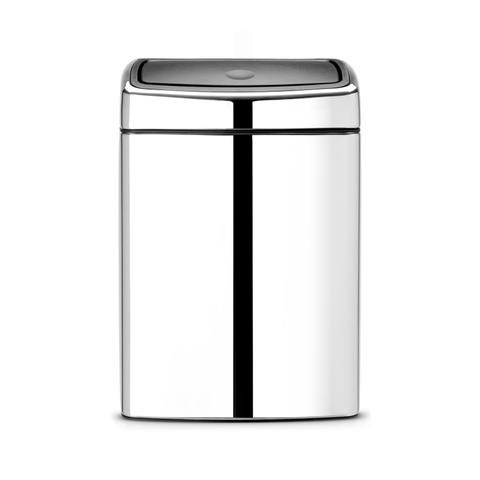 Прямоугольный мусорный бак Touch Bin (10 л), артикул 477201, производитель - Brabantia