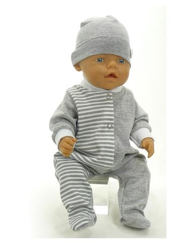 Большой подарочный комплект - зимний медведь - На кукле ползунки. Одежда для кукол, пупсов и мягких игрушек.