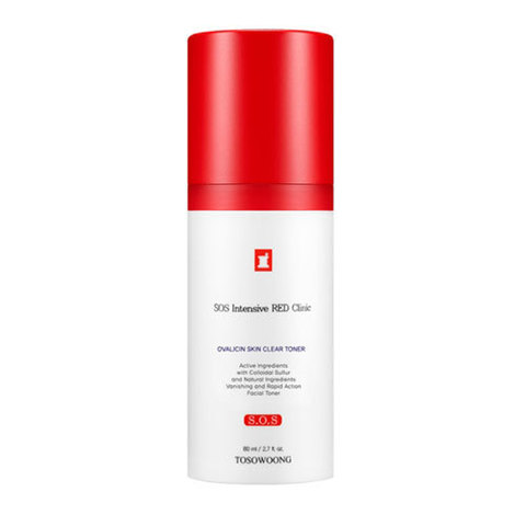 Тонер TOSOWOONG SOS Intensive RED Clinic Ovalicin Skin Clear Toner 80ml