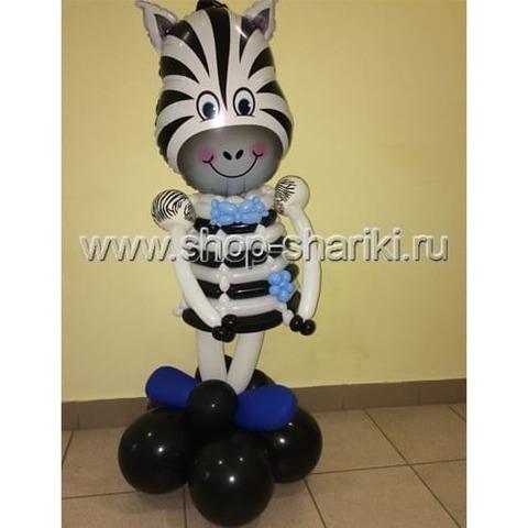 Фигура Зебра мальчик из шаров