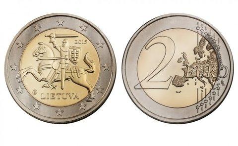 "2 евро ""Всадник Витис"" 2015 года"
