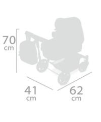 DeCuevas Коляска-трансформер для кукол 3 в 1 серии Литл Пет 70см (80539)
