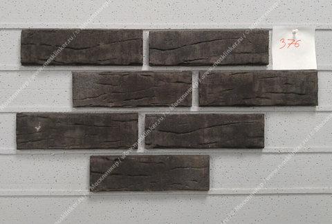Stroeher - 376 platinschwarz, Steinlinge, состаренная поверхность, ручная формовка, 240x71x14 - Клинкерная плитка для фасада и внутренней отделки