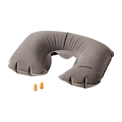 Подушка для путешествий Wenger надувная и беруши, серая, 27x1x46 см