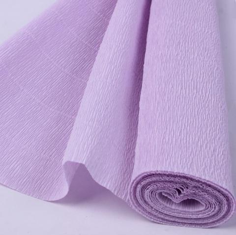 Бумага гофрированная, цвет 592 светло-сиреневый, 180г, 50х250 см, Cartotecnica Rossi (Италия)