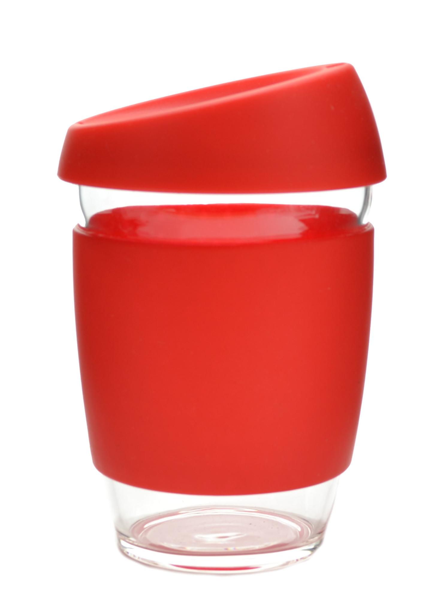 Кружка Coffee Cup из боросиликатного стекла 340 мл. красный