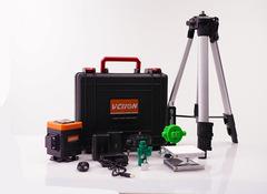 Лазерный уровень 360° VCHON VC-5202  12 зеленых лучей (нижний горизонт) + штатив 1,2 метра
