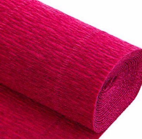 Бумага гофрированная, цвет 982 светло-вишневый, 140г, 50х250 см, Cartotecnica Rossi (Италия)