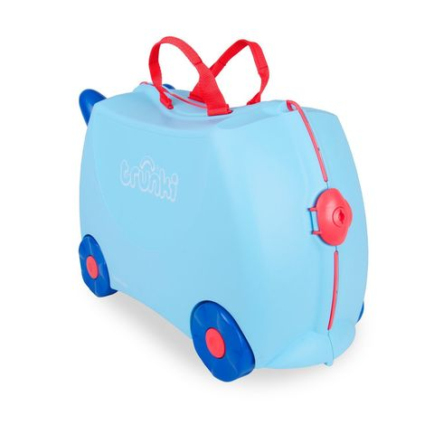 Чемодан на колесах Джордж, голубой