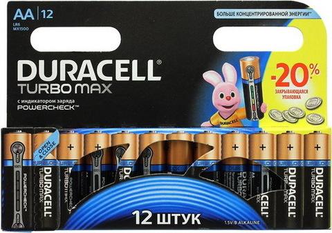 Батарейки Duracell Turbo LR6, AA (12/144) BL