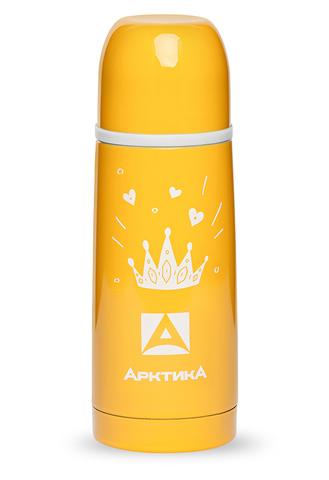 Термос Арктика (102-350w желтый) 0,35 литра с узким горлом с рисунком, желтый