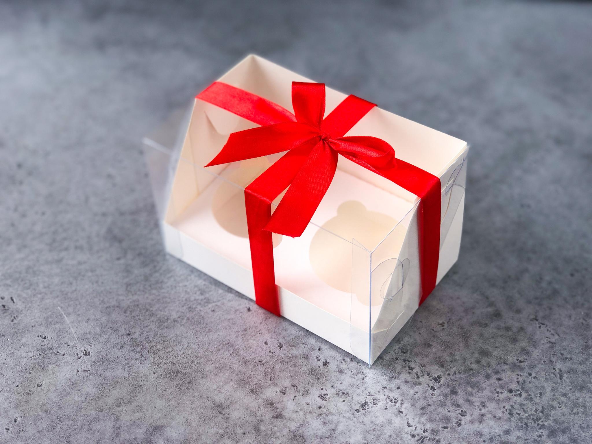 Коробка на 2 капкейка БЕЛАЯ, 16х10х10 см