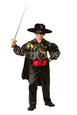 Детский карнавальный костюм Зорро сказочный
