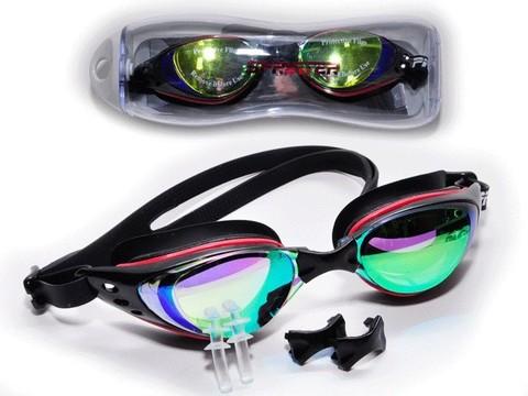 Очки для плавания, материал оправы силикон. Индивидуальная упаковка из пластмассы на молнии. YYK390