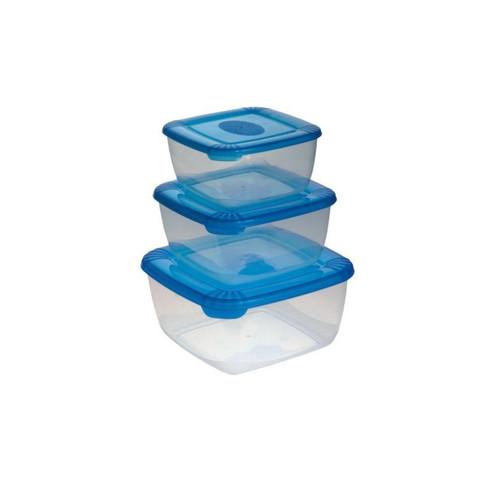 Набор контейнеров  Polar  квадратные 0,5л+1л+2,5л.