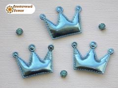 Мягкие короны средние голубые № 1