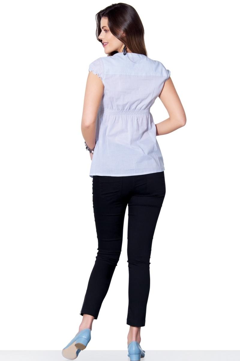Рубашка для беременных 01329 синий