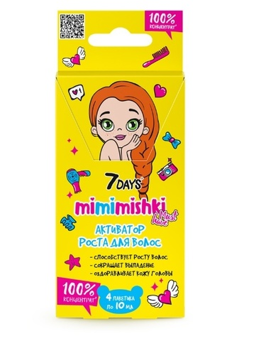 7 DAYS MIMIMISHKI 100% Концентрат Активатор роста для волос 40 мл BСД046