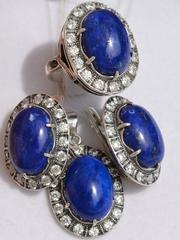 Гарда  (кольцо + серьги из серебра)