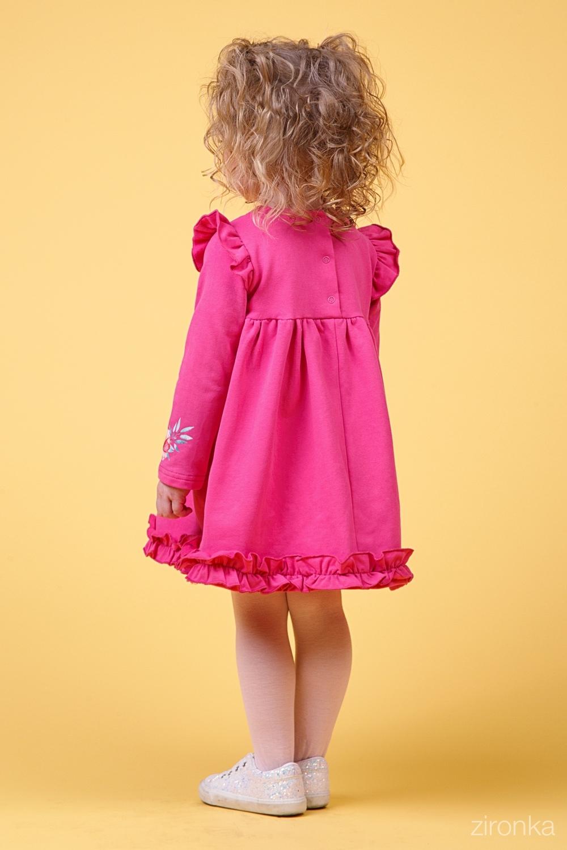 Платье малиновое для девочки 38-9015-4