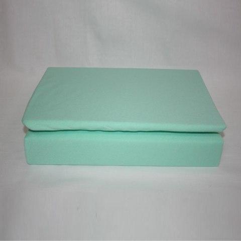 Простынь на резинке трикотажная 90x200 (мятная)