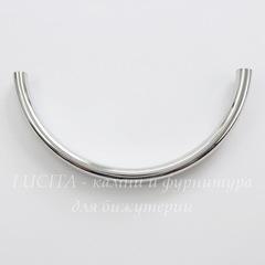Разделитель - трубочка 69х7х4 мм (цвет - платина)