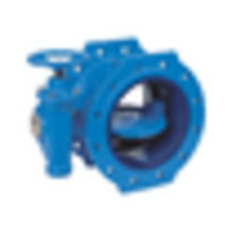 Затвор дисковый поворотный чугун VP4201-08EP Ду 400 Ру10 фл с редуктором диск чугун манжета EPDM Tecofi VP4201-08EP0400