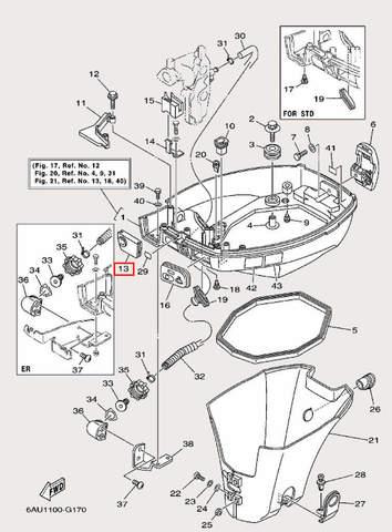 Пластина для лодочного мотора F9,9 Sea-PRO (16-13-1)