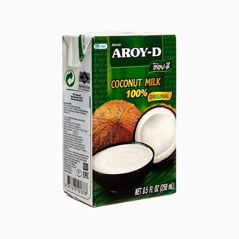 """Кокосовое молоко """"AROY-D"""" 250 мл, Tetra Pak (жирность 17-19%)"""
