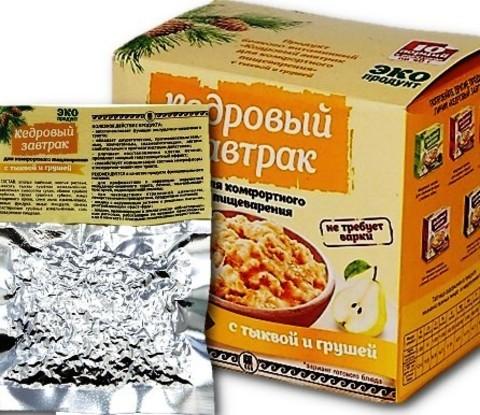 Кедровый завтрак для комфортного пищеварения