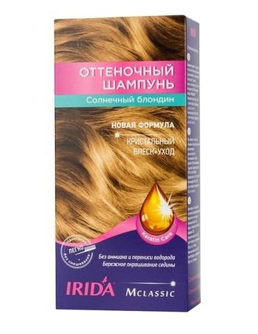 Irida Irida М classic Оттеночный шампунь для окраски волос Солнечный блондин 3*25мл
