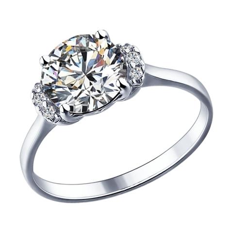 89010018-Кольцо из серебра со SWAROVSKI
