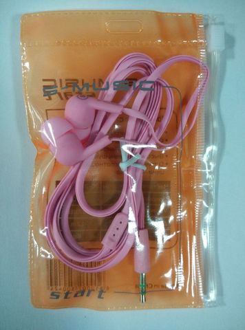Наушники вакуумные S-Music Start CX-110 pink