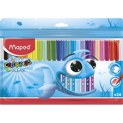 Фломастеры Maped Color'peps ocean 24 цвета