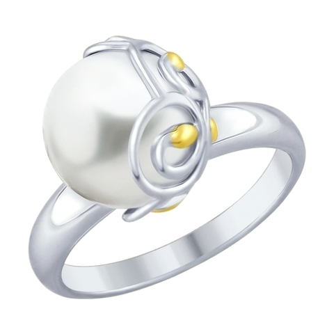 94012451- Кольцо из серебра с жемчугом
