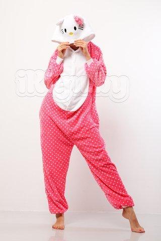 Пижамы кигуруми Hello Kitty (Горошек) kitty.jpg