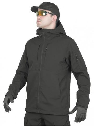 Тактический костюм мужской софтшелл GONGTEX SMARTFOX SOFTSHELL, Черный