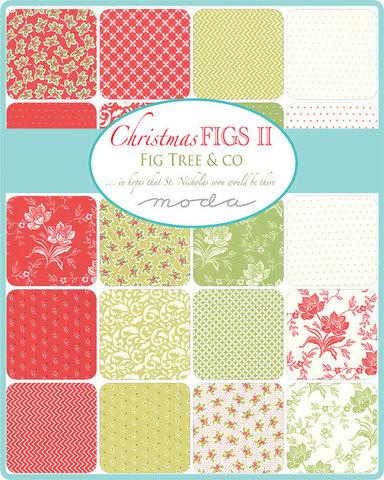 Набор ткани Jelly Roll. Christmas FIGS от Moda