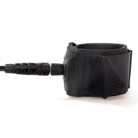 FCS 8' Regular Leash 7mm Black (Classic)
