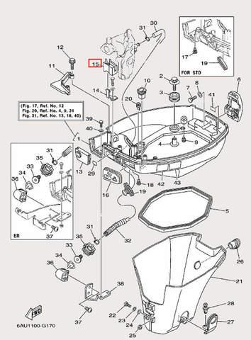 Блок уплотняющий для лодочного мотора F9,9 Sea-PRO (16-15)