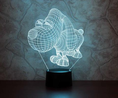 3D лампа Пёс