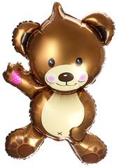 К Мини-фигура с клапаном, Плюшевый мишка, Коричневый,14''/36 см, 5 шт.