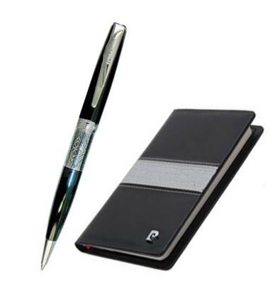 Набор подарочный Pierre Cardin - Black ST, записная книжка + шариковая ручка