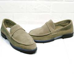Женские туфли лоферы Osso 2668 Beige.