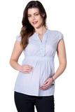 Рубашка для беременных 01329 зеленый
