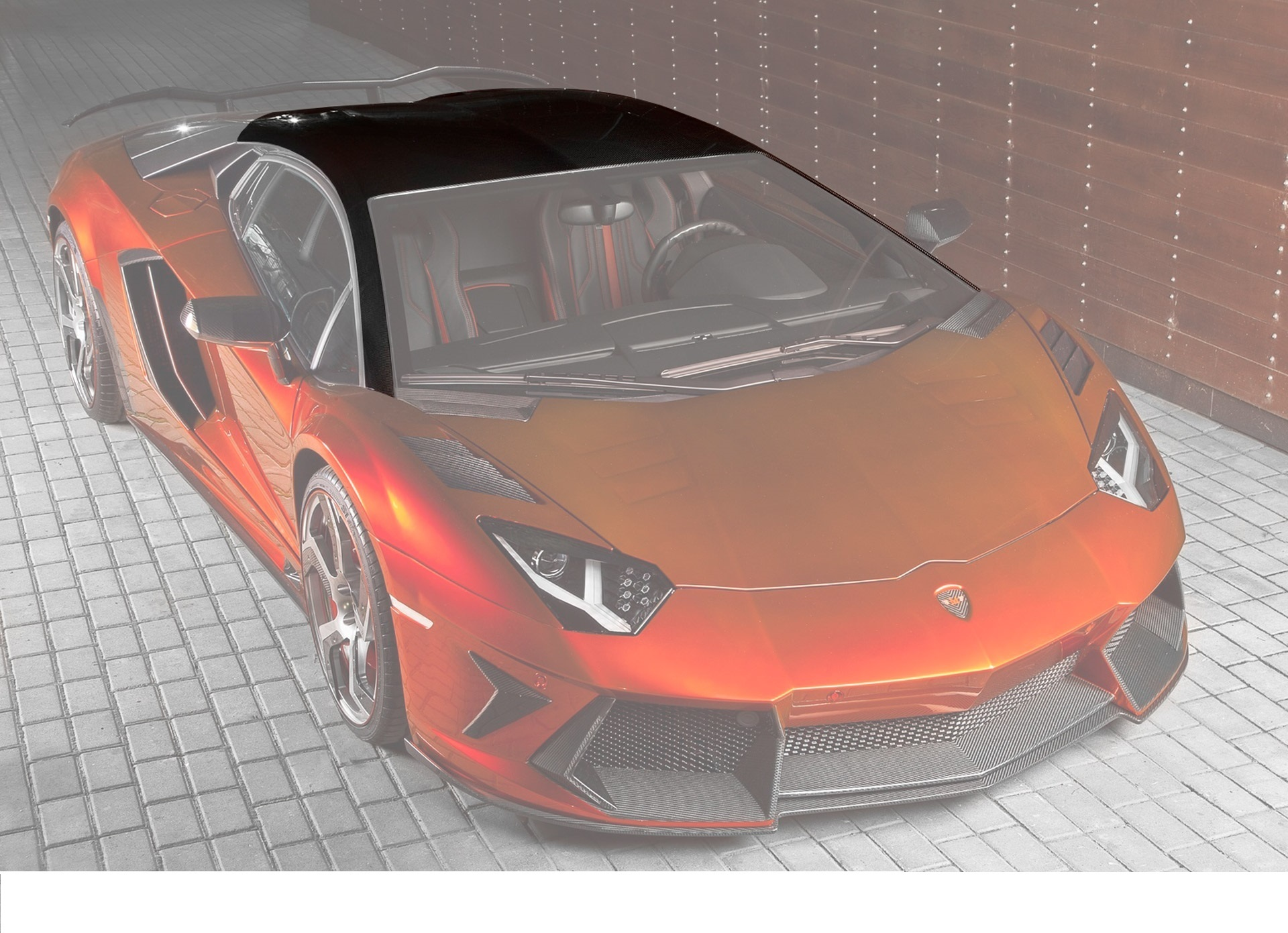 Карбоновая крыша Mansory Style 2 для Lamborghini Aventador